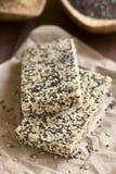 Φραγμοί Granola μελιού σουσαμιού Chia Στοκ Εικόνα