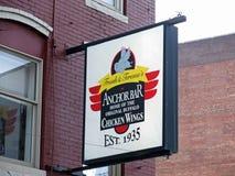 Φραγμός αγκύρων, σπίτι των φτερών κοτόπουλου Buffalo, Νέα Υόρκη Buffalo Στοκ Εικόνες