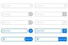 Φραγμός αναζήτησης για UI Σύνολο στοιχείων για τη διεπαφή σχεδίου του ιστοχώρου διάνυσμα διανυσματική απεικόνιση
