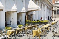 Φραγμός καφέ οδών στη Βενετία, Ιταλία Στοκ εικόνα με δικαίωμα ελεύθερης χρήσης