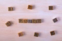 Φραγμός μετάλλων λέξης κόμματος στοκ φωτογραφία