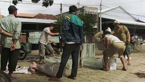 Φραγμός πάγου, οδός, Καμπότζη, Νοτιοανατολική Ασία απόθεμα βίντεο