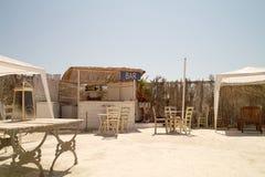 Φραγμός παραλιών κοντά στο λιμάνι Lampedusa στοκ φωτογραφία με δικαίωμα ελεύθερης χρήσης