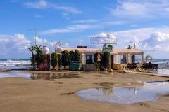 Φραγμός παραλιών σε Finikoudes, Λάρνακα Στοκ φωτογραφία με δικαίωμα ελεύθερης χρήσης