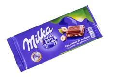 Φραγμός σοκολάτας Milka Στοκ φωτογραφία με δικαίωμα ελεύθερης χρήσης