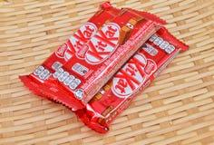 Φραγμός σοκολάτας εξαρτήσεων της Nestle kat Στοκ Εικόνες