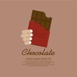 Φραγμός σοκολάτας. Στοκ Φωτογραφίες