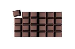 Φραγμός σοκολάτας στοκ εικόνα με δικαίωμα ελεύθερης χρήσης
