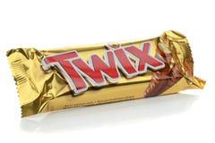 Φραγμός σοκολάτας Twix Στοκ φωτογραφία με δικαίωμα ελεύθερης χρήσης
