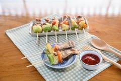 Φραγμός χοιρινού κρέατος Β Que& x28 BBQ& x29  στοκ φωτογραφίες