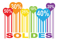 Φραγμός χρώματος μορφής αγάπης soldes Στοκ φωτογραφία με δικαίωμα ελεύθερης χρήσης