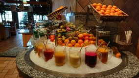 Φραγμός χυμού φρούτων Στοκ φωτογραφίες με δικαίωμα ελεύθερης χρήσης