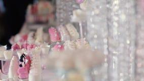Φραγμός Kendi του γαμήλιου εστιατορίου απόθεμα βίντεο