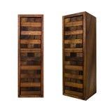 Φραγμών παιχνίδι jenga που απομονώνεται ξύλινο Στοκ Εικόνα