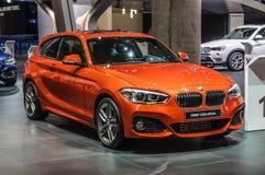 ΦΡΑΝΚΦΟΥΡΤΗ - Ο ΣΕΠΤΈΜΒΡΙΟΣ 2015: BMW 120d xDrive που παρουσιάζει σε IAA Στοκ εικόνα με δικαίωμα ελεύθερης χρήσης