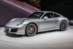 ΦΡΑΝΚΦΟΥΡΤΗ - Ο ΣΕΠΤΈΜΒΡΙΟΣ 2015: Porsche 911 991 Carrera S coupe που παρουσιάζεται Στοκ φωτογραφίες με δικαίωμα ελεύθερης χρήσης