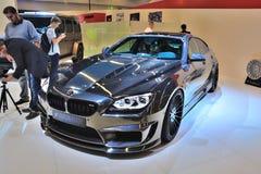 ΦΡΑΝΚΦΟΥΡΤΗ - 14 ΤΟΥ ΣΕΠΤΕΜΒΡΊΟΥ: BMW M6 Mirr6r Hamann που παρουσιάζεται ως κόσμος προ Στοκ Εικόνες