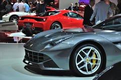 ΦΡΑΝΚΦΟΥΡΤΗ - 14 ΤΟΥ ΣΕΠΤΕΜΒΡΊΟΥ: Ferrari F12 Berlinetta που παρουσιάζεται ως κόσμος π Στοκ Φωτογραφίες