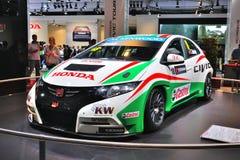 ΦΡΑΝΚΦΟΥΡΤΗ - 14 ΤΟΥ ΣΕΠΤΕΜΒΡΊΟΥ: Honda Civic WTCC που παρουσιάζεται ως παγκόσμιος πρωθυπουργός Στοκ φωτογραφία με δικαίωμα ελεύθερης χρήσης