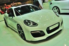ΦΡΑΝΚΦΟΥΡΤΗ - 14 ΤΟΥ ΣΕΠΤΕΜΒΡΊΟΥ: Porsche PanameraTechart που παρουσιάζεται ως κόσμος Στοκ φωτογραφίες με δικαίωμα ελεύθερης χρήσης