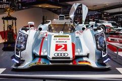 ΦΡΑΝΚΦΟΥΡΤΗ - 21 ΤΟΥ ΣΕΠΤΕΜΒΡΊΟΥ: Quattro 01 Audi R18 ε -ε-tron που παρουσιάζεται ως wor Στοκ φωτογραφίες με δικαίωμα ελεύθερης χρήσης