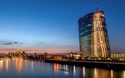 Φρανκφούρτη - ΕΚΤ Ευρωπαϊκής Κεντρικής Τράπεζας στοκ εικόνα