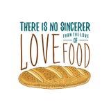 Φραντζόλα και ψωμί ή κουζίνα, μαγειρεύοντας ουσία για τη διακόσμηση επιλογών έμβλημα λογότυπων ψησίματος ή ετικέτα, χαραγμένο χέρ Στοκ Φωτογραφία