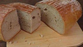 Φραντζόλα περικοπών του φρέσκου ψωμιού burlap φιλμ μικρού μήκους