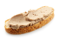 Φραντζόλα του ψωμιού με το πατέ συκωτιού Στοκ φωτογραφία με δικαίωμα ελεύθερης χρήσης