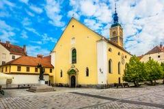 Φραντσησθανή εκκλησία στην Κροατία, Varazdin στοκ φωτογραφίες