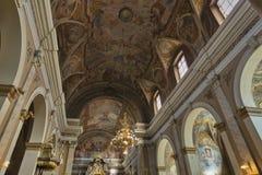 Φραντσησθανή εκκλησία του Annunciation εσωτερικού Λουμπλιάνα, Slove Στοκ Εικόνες