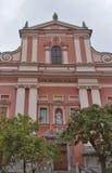 Φραντσησθανή εκκλησία Annunciation στο Λουμπλιάνα Στοκ φωτογραφία με δικαίωμα ελεύθερης χρήσης