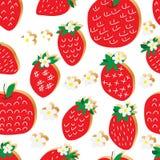 Φραουλών κόκκινο άνευ ραφής σχέδιο ύφους μήλων ελεύθερο ελεύθερη απεικόνιση δικαιώματος