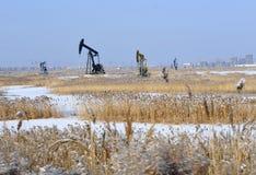 φρεάτια καλάμων πετρελαίου Στοκ φωτογραφίες με δικαίωμα ελεύθερης χρήσης