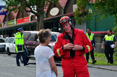Φρικτός ανεμοστρόβιλος στο Ώκλαντ, Νέα Ζηλανδία Στοκ Εικόνες