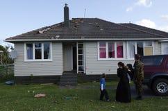 Φρικτός ανεμοστρόβιλος στο Ώκλαντ, Νέα Ζηλανδία Στοκ Φωτογραφίες