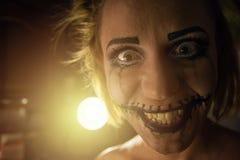 Φρικτό πορτρέτο κοριτσιών Στοκ εικόνες με δικαίωμα ελεύθερης χρήσης