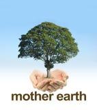 Φροντίστε τη γη μητέρων Στοκ εικόνα με δικαίωμα ελεύθερης χρήσης
