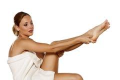 Φροντίδα δέρματος σώματος στοκ εικόνα με δικαίωμα ελεύθερης χρήσης