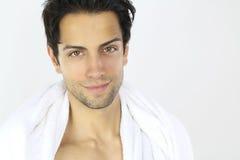 Φροντίδα δέρματος - όμορφο χαμόγελο τύπων Στοκ φωτογραφία με δικαίωμα ελεύθερης χρήσης