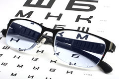 Φροντίδα για τη θέα ματιών από τα κατάλληλα γυαλιά Στοκ Φωτογραφίες