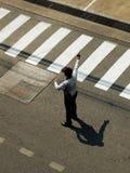 Φρουρά ασφάλειας στο δρόμο Στοκ φωτογραφία με δικαίωμα ελεύθερης χρήσης