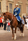 φρουρά βασιλική Στοκχόλ&mu Στοκ φωτογραφίες με δικαίωμα ελεύθερης χρήσης