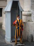φρουρά ελβετικό Βατικανό Στοκ εικόνα με δικαίωμα ελεύθερης χρήσης