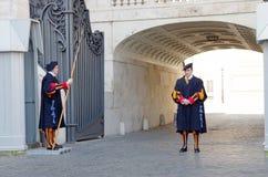 φρουρά παπικός Ελβετός στοκ φωτογραφία