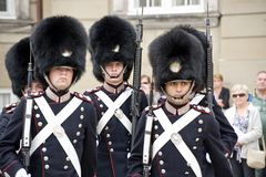 φρουρά της Δανίας βασιλική Στοκ φωτογραφία με δικαίωμα ελεύθερης χρήσης