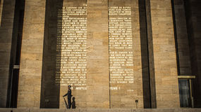Φρουρά τιμής από Anitkabir, μαυσωλείο Ataturk Στοκ Εικόνα
