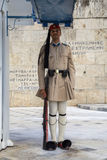 Φρουρά τιμής Evzone με το τουφέκι Στοκ φωτογραφίες με δικαίωμα ελεύθερης χρήσης