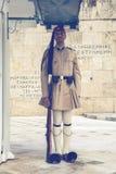 Φρουρά τιμής Evzone με το τουφέκι 3 Στοκ Εικόνες