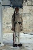 Φρουρά τιμής Evzone με το τουφέκι 4 Στοκ Φωτογραφία